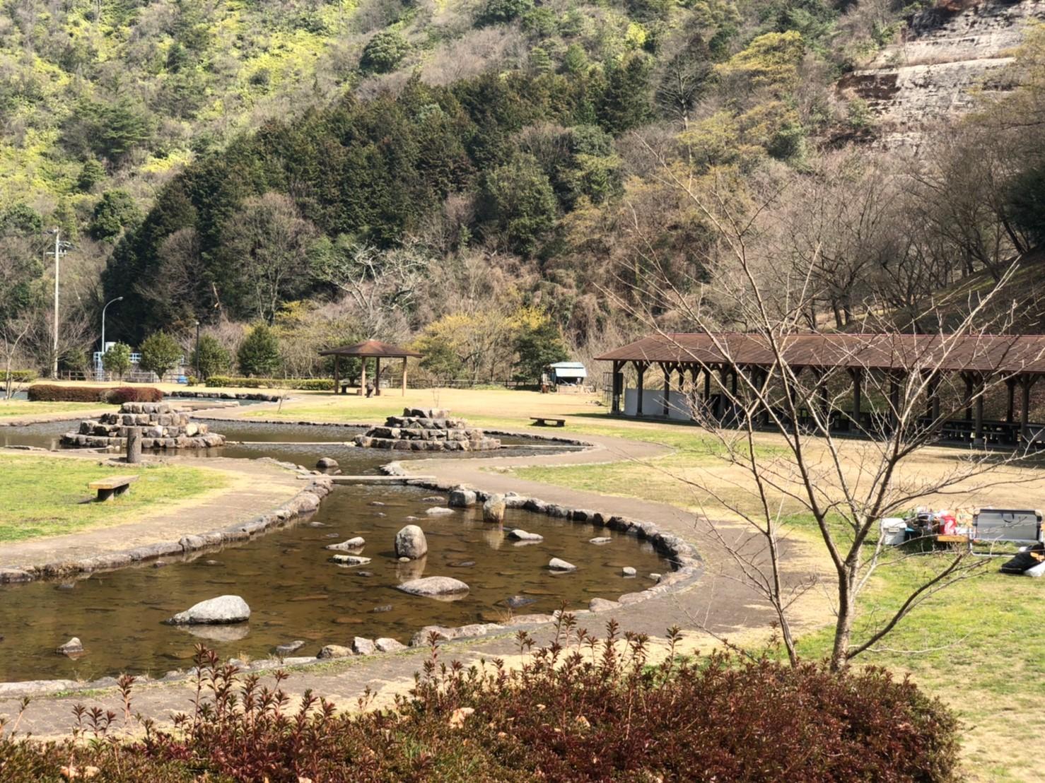 朝倉ダム湖畔緑水公園 春