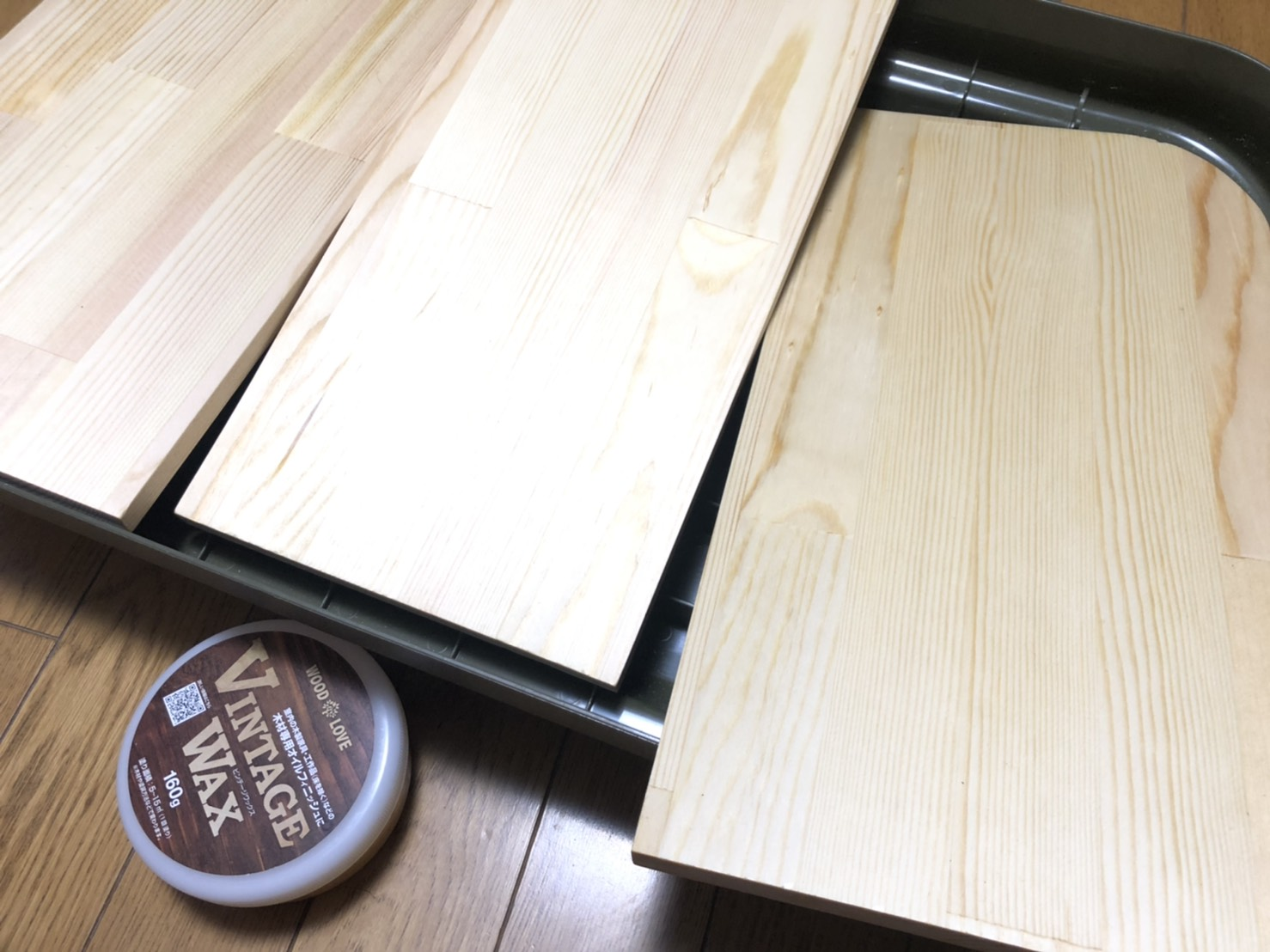 wood love vintage wax