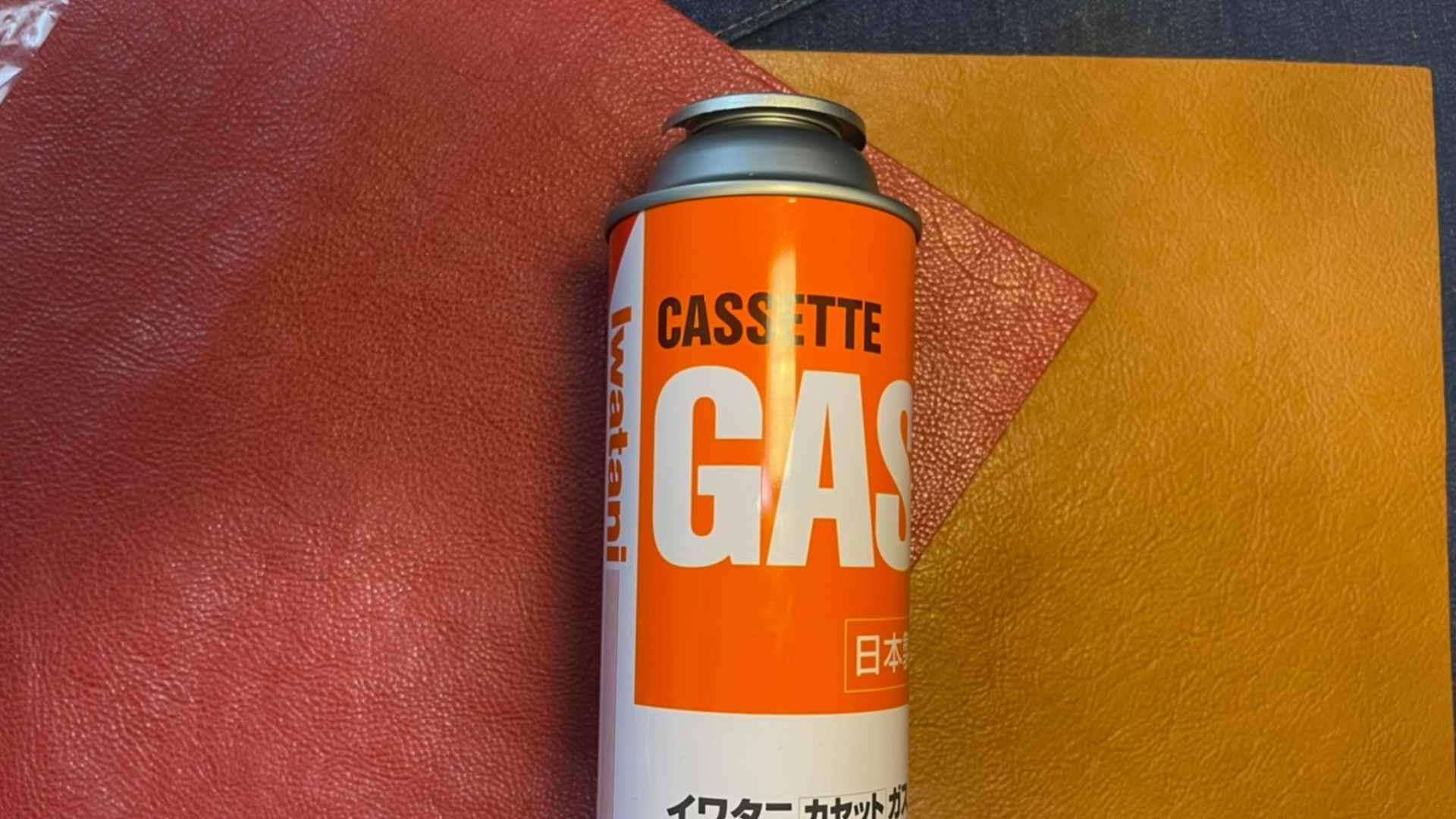 レザークラフト レザーとCB缶