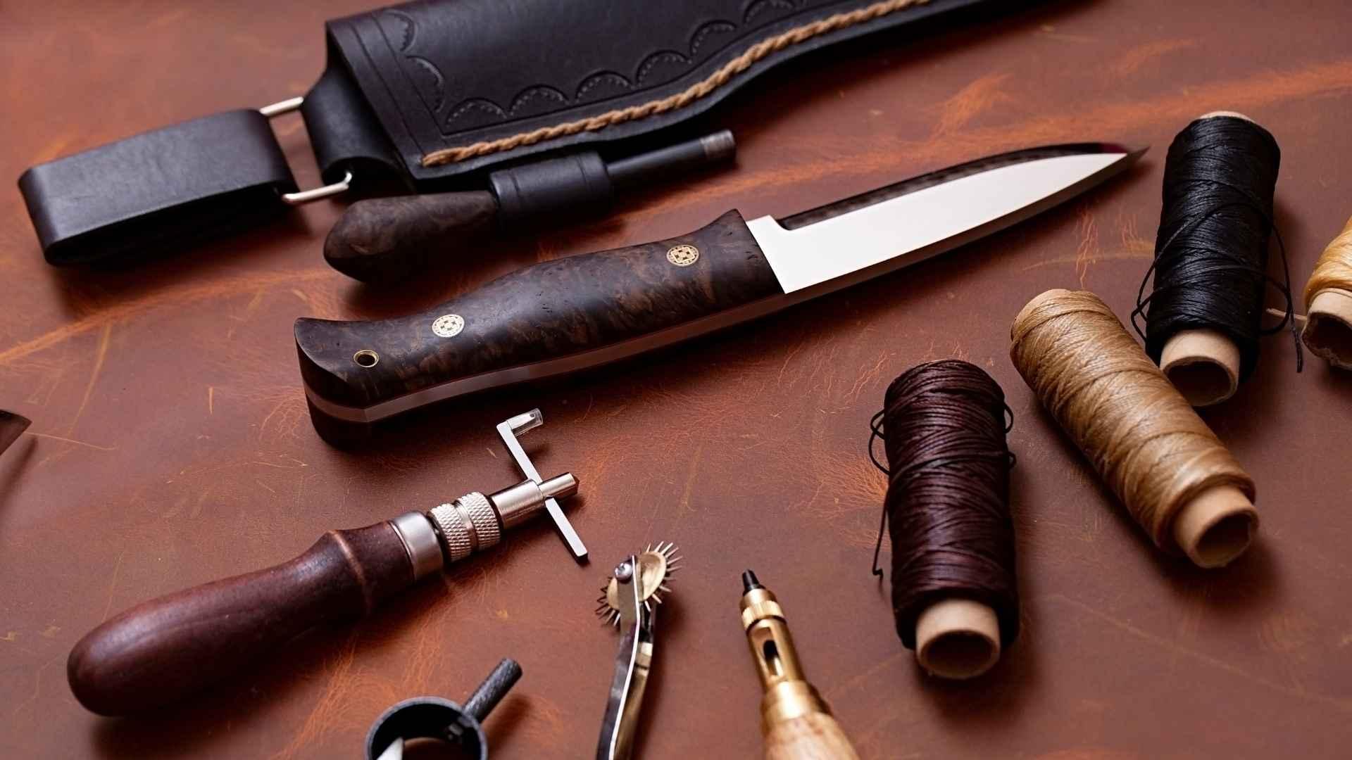 レザークラフト ナイフのカバー